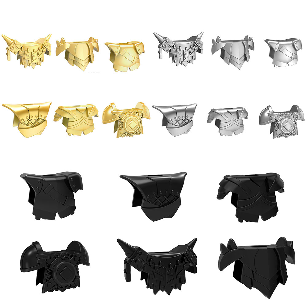 6pcs/set Medieval Rome Knights Weapons Golden Armors Weapons Model Building Blocks Bricks Gifts Toys for Children 7pcs set medieval knights shields crusader lord of the rings building blocks bricks diy gifts toys for children