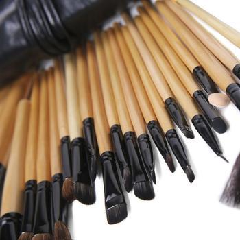 24Pcs Makeup Brushes Cosmetic Tool Kits Professional Eyeshadow Powder Eyeliner Contour Brushes Set Case Bag Cosmetic Brushes 4