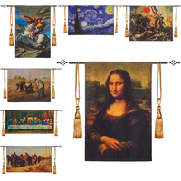 Famous Works Wall Tapestry Wall Hanging Carpet Cloth Tapestries Belgium Boho Decor Farmhouse Decor