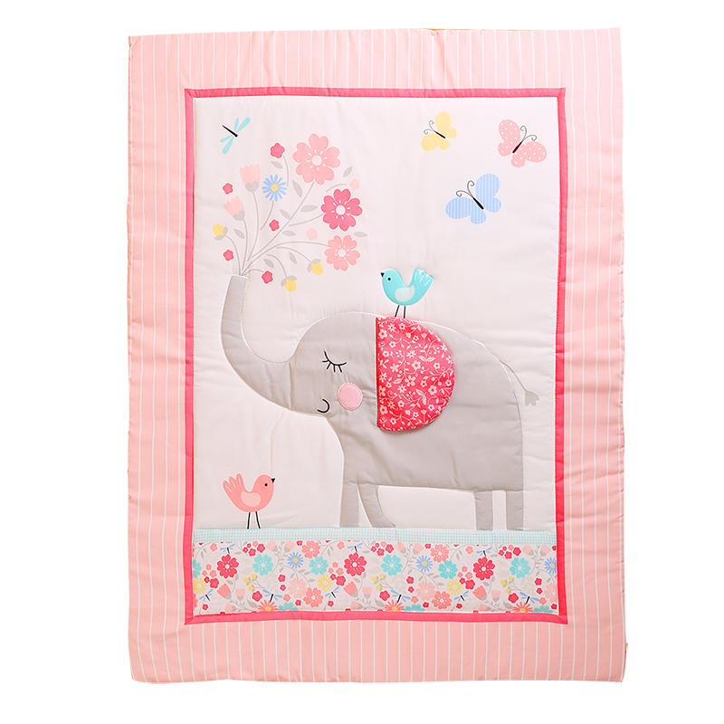 100% Brushed Polyester Baby Quilt/comforter For Baby Boy And Girl