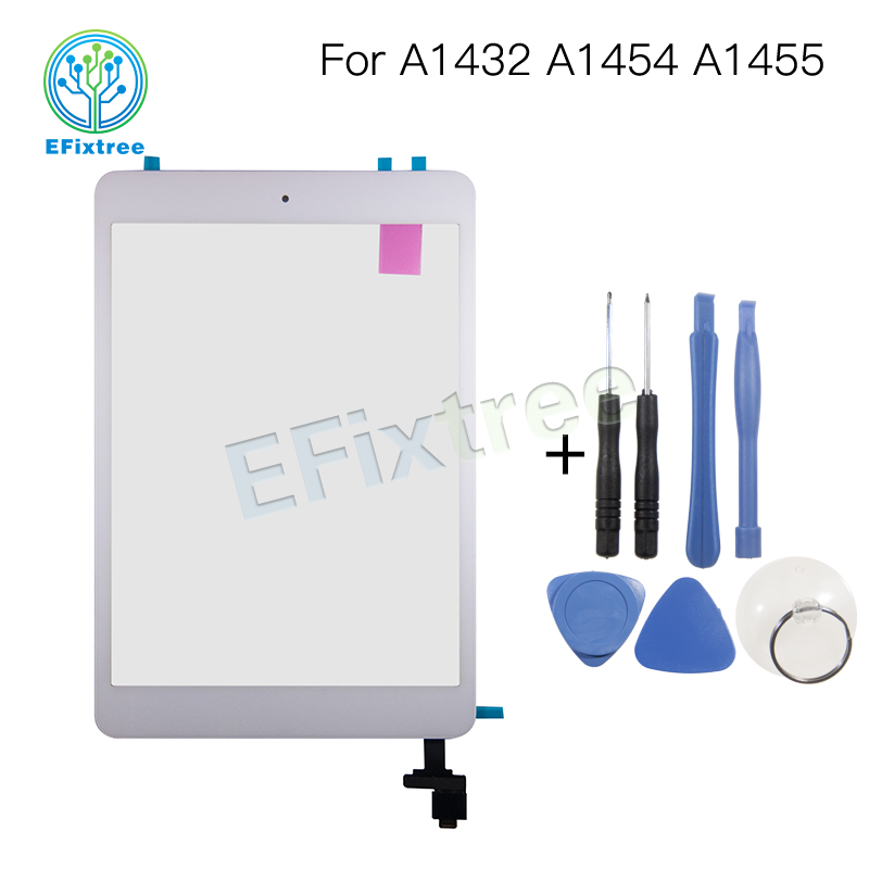 New A1455 A1454 A1432 Digitizer Panel Front Glass For iPad mini 1 Touch Screen with Home Button Assembly Black White netcosy black white touchscreen for ipad 2 touch glass screen digitizer home button assembly for ipad 2 touch panel