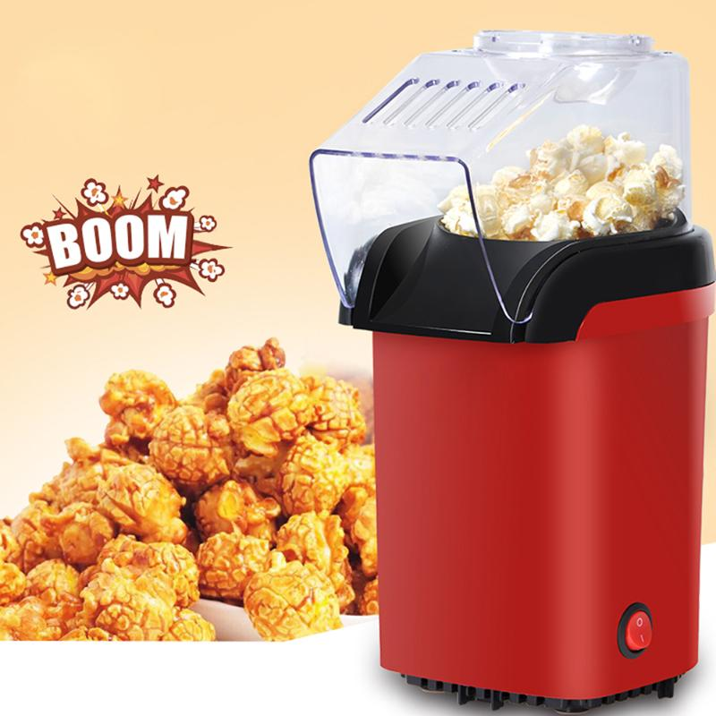 New Household Electric Popcorn Maker Machine Automatic Red Corn Popper Natural Popcorn Home use household For kids Children fast food equipment automatic use popcorn machines for sale high quality use popcorn machines for sale caramel popcorn machine