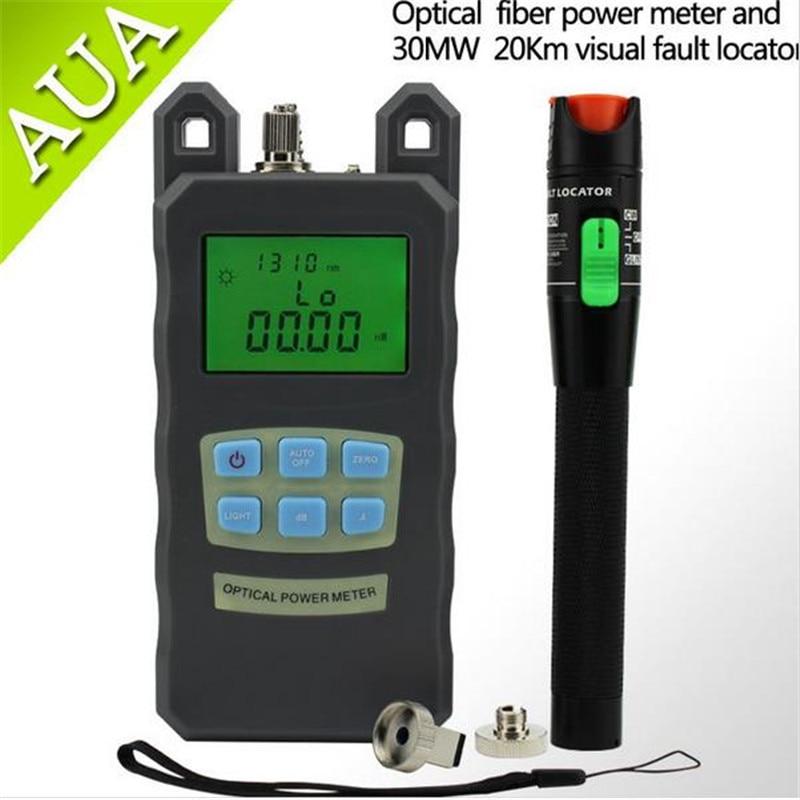Optisk Fiber Power Meter -70dBm ~ + 10 dBm Fiber Optic PowerAnd 30mW - Kommunikationsutrustning - Foto 1