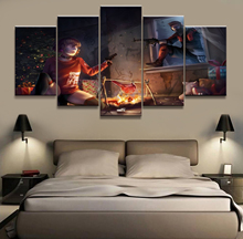 Home Decor Canvas 5 Panels Ring of Elysium Europa Girl Shooting Game Piece Poster Picture Wall Decoration Painting Wholesale