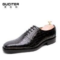 Бесплатная доставка Высококачественная обувь ручной работы мужские Goodyear Китай обуви крокодиловой кожи живота High end класса люкс изготовлен