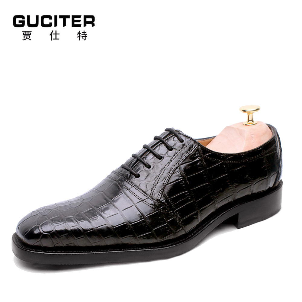 Free Shipping High-grade handmade shoes men Goodyear china shoe crocodile skin belly skin high end luxury custom made shoes free shipping high grade custom made lag element face goodyear manual custom mens leather shoes business private party shoe