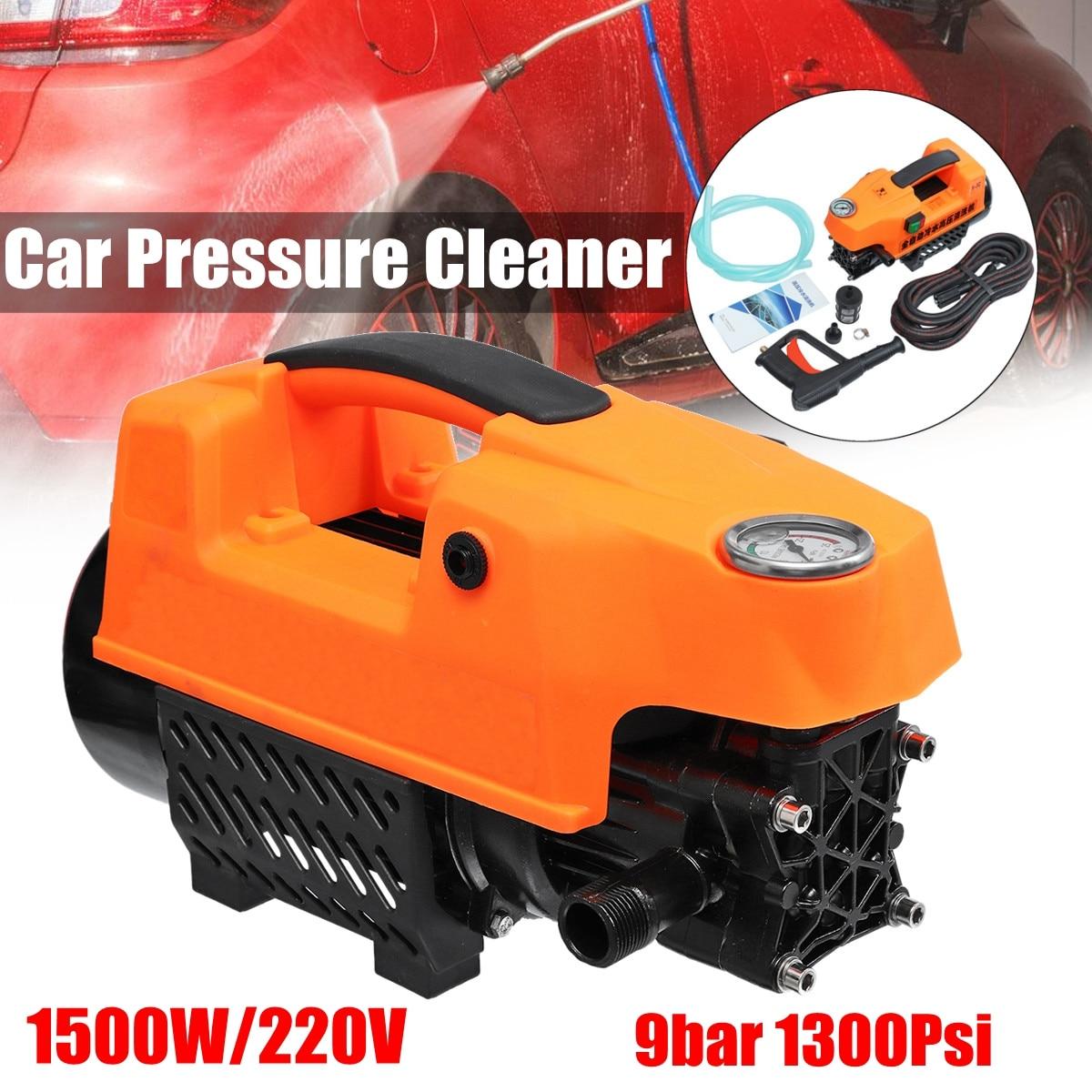 High Pressure Washer 1500W Portable Electric Car High Pressure Washing Cleaner Machine 220V 1300Psi Portable Car Washer