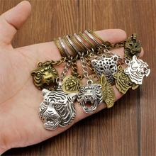 New Fashion Keychain For Car Metal Pendant Bag Charm Tiger Head Animal Cool DIY Gift Boyfriend