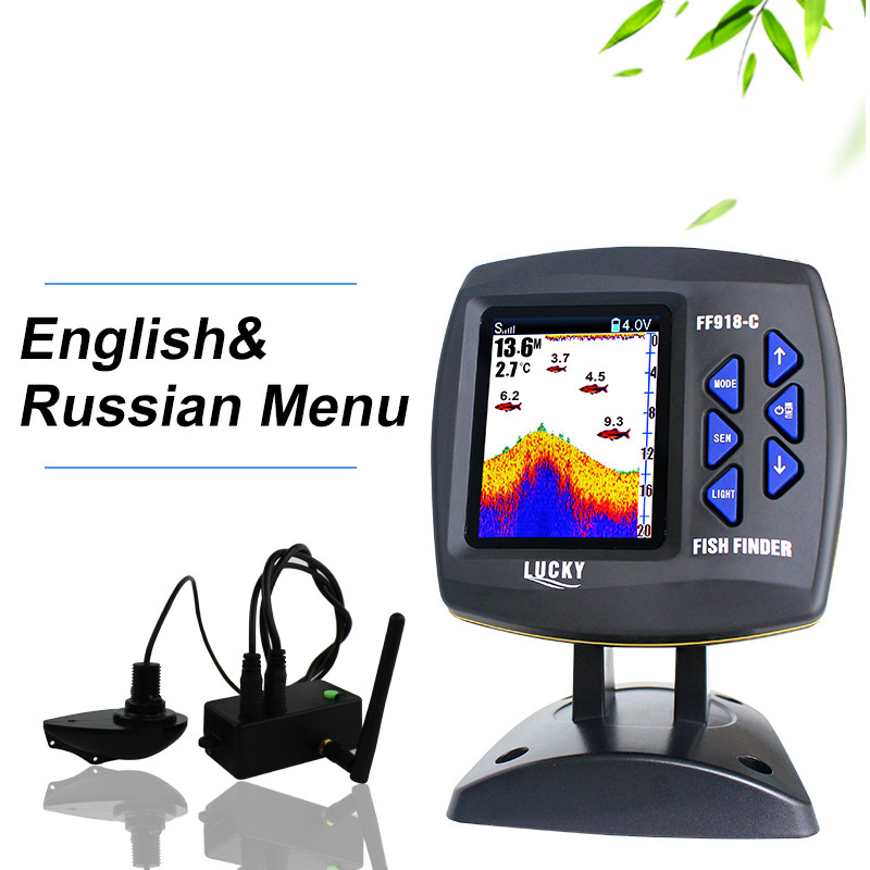 цена на Lucky Brand Fish Finder Wireless Remote Control Fish Finder Boat 300m/980ft Wireless Operating Range Carp Fishing FF918-CWL
