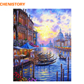 CHENISTORY Europe Venice Night DIY Painting By Numbers Abstract Oil Painting On Canvas Acrylic Paint By Numbers For Home Decor