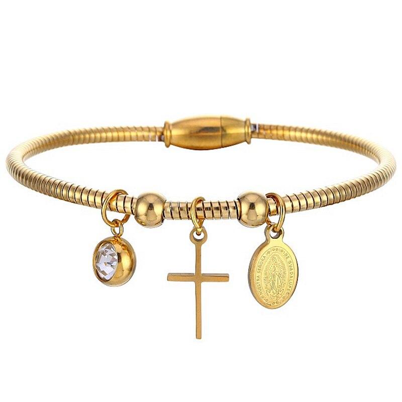 Virgin Mary Cross Bracelet