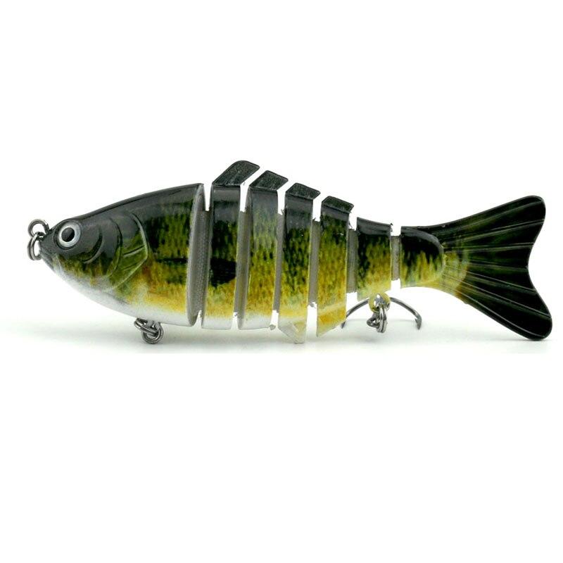 HENGJIA 5pcs 10cm 15.4g Jointed Minnow Fishing Lures Wobbler Pike Carp Trout Catfish Crappie Fishing Baits Pesca Fishing Tackles