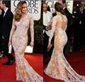 Oscar Jennifer Lopez Dress Lace Long Sleeve Celebrity Dress 2015 Beauty Mermaid Red Carpet Dresses Evening Dresses