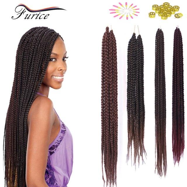 18 Inch 24 Inch Small Crochet Box Braid Hair Extension 20 Rootpack