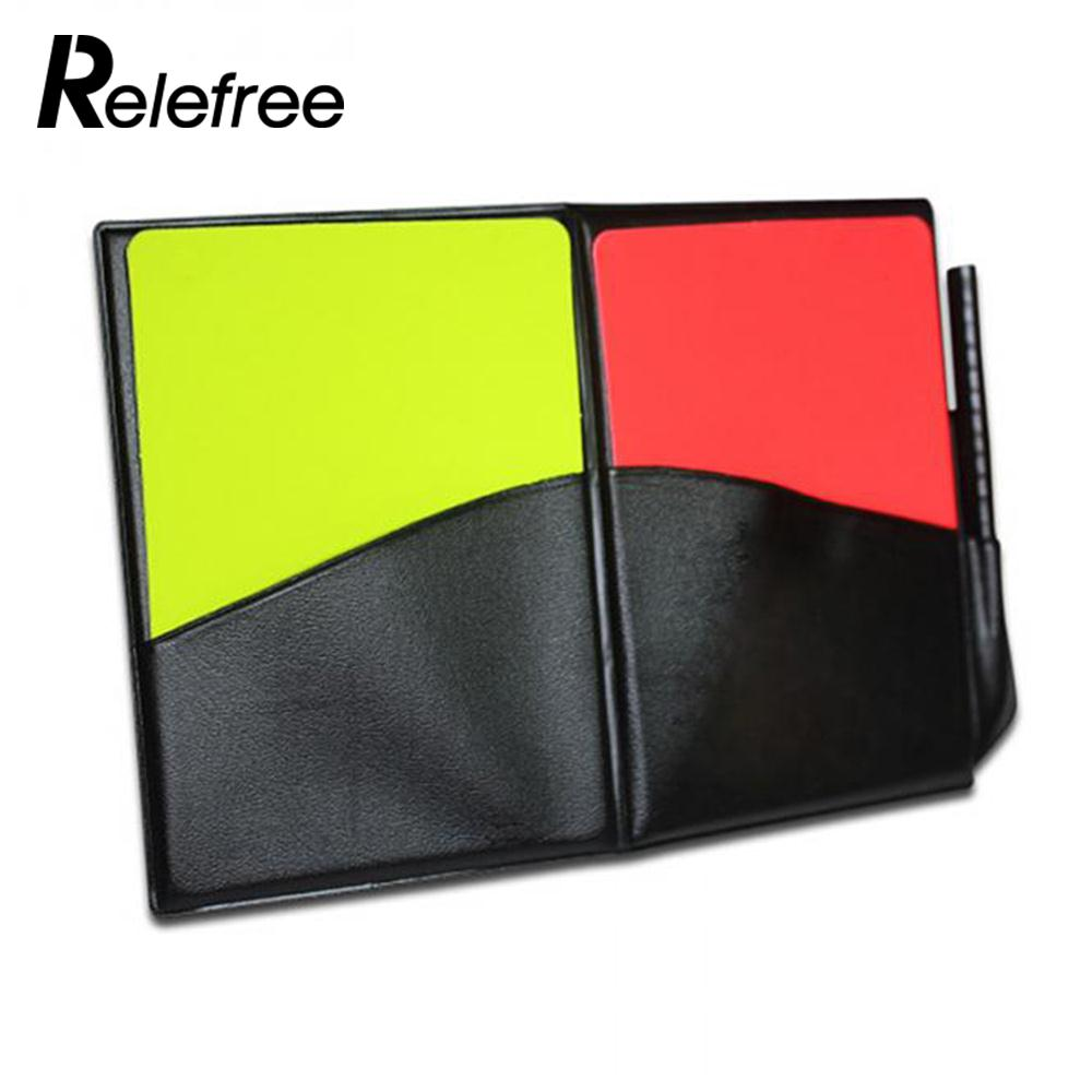 with Pencil PVC Booklet Pro Judgecase Equipment Yellow Red Card Football Referee Case ...
