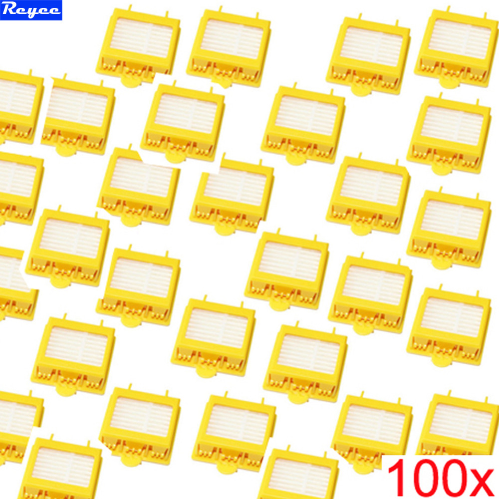 100% Brand New 100 pcs/lot Yellow Hepa Filter Filters for iRobot Roomba 700 Series 760 770 780 Free Shipping Factory Wholesale brand new 2pcs lot 100