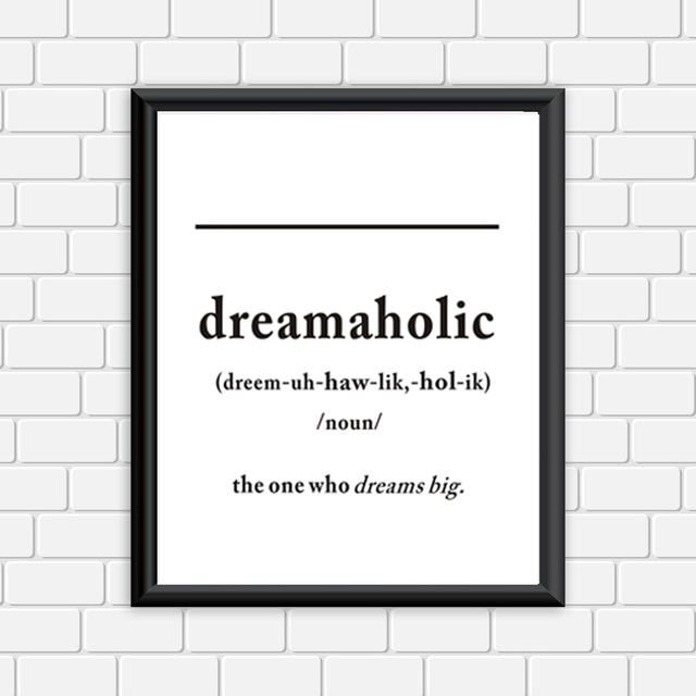 Quotes Definition Extraordinary Modern Dreamaholic Definition Canvas Painting Quotes Black White