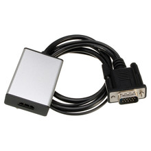 VGA To HDMI Output 1080P HD + USB Audio TV AV HDTV Video Cable Converter Adapter New Arrival