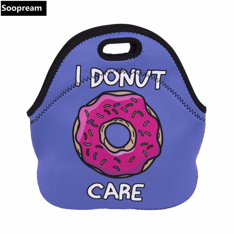 AAA quality Thermal Insulated small little Neoprene cooler Bag for Women Kids lunch box Zipper Cooler bags Insulation Lunch Box etya new portable lunch bag thermal insulated snack lunch box carry tote storage bag travel picnic food pouch for girls women