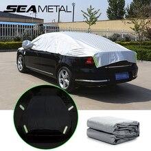 Cubiertas reflectantes para coche, tira de advertencia, impermeable, a prueba de Sol, para exteriores, Fundas protectoras de lluvia, estilismo para coche