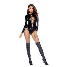 Porn Sex Underwear Women Erotic Lingerie Sexy Leather PU Latex Baby Doll Hot Pole Dance Club Nightclub Costume