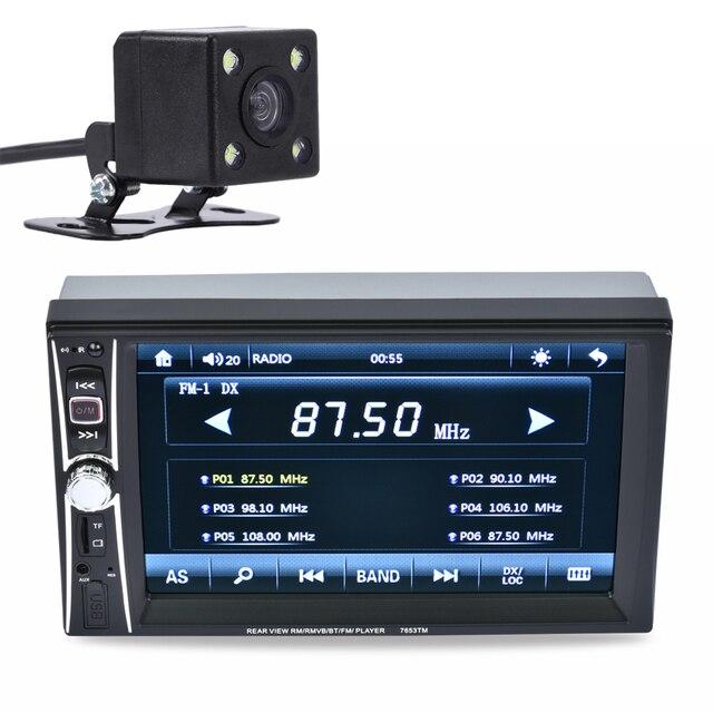 """6.5 """"2DIN HD В Тире Автомобиль Сенсорный Экран Зеркало Ссылка Bluetooth Hands Free Автомобильный Радиоприемник Стерео MP3 MP5 Плееры Заднего Экрана + камера"""