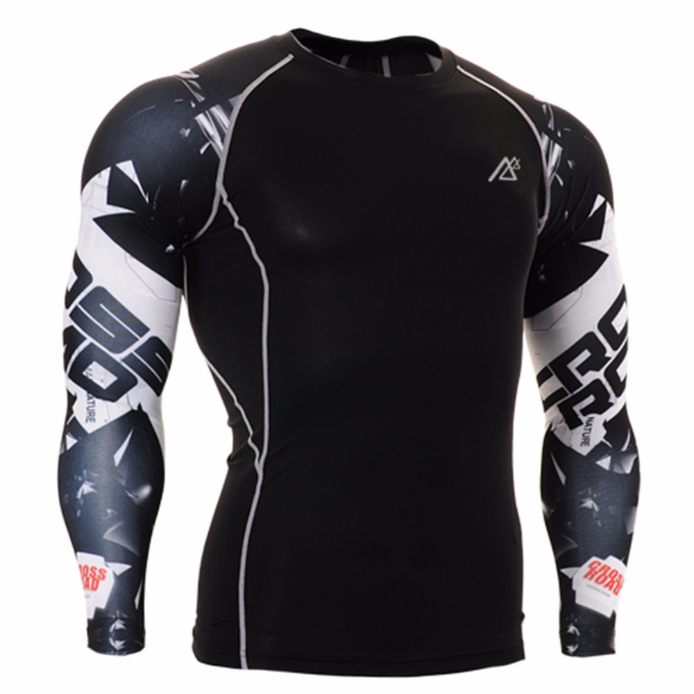 ee9efff7ff Life on Track Men's Yoga Top Gym Fitness Clothes Running Shirts Male Sports  3D Printed Long Sleeve Breathable Sportswear