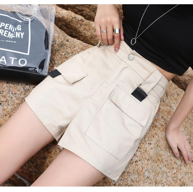 3XL Plus Size Women Summer Shorts With Belt 2019 Fashion Casual Streetwear Cargo Shorts Feminino BF Style Army Green Short Femme 21