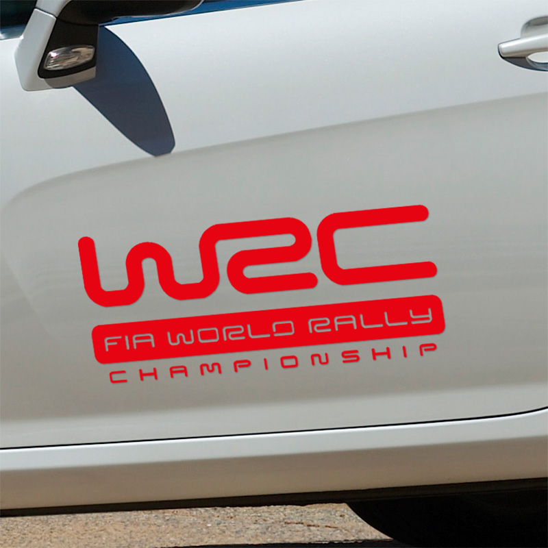 1 Pair WRC Sticker on Car DOOR Car-Styling for Citroen Volkswagen Ford PEUGEOT MITSUBISHI focus VW golf cruze car styling