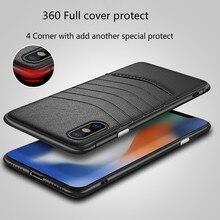 יוקרה מקרה טלפון עבור iphone 6 7 8 6s 7s בתוספת xr xsmax מחשב עור טלפון חזרה כיסוי אנטי שריטה לכלוך reistant עסקי תיק coque