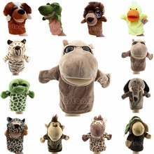 Child Kids Cute Plush Velour Animals Hand Puppets Chic Designs Learning Aid Toys(China)