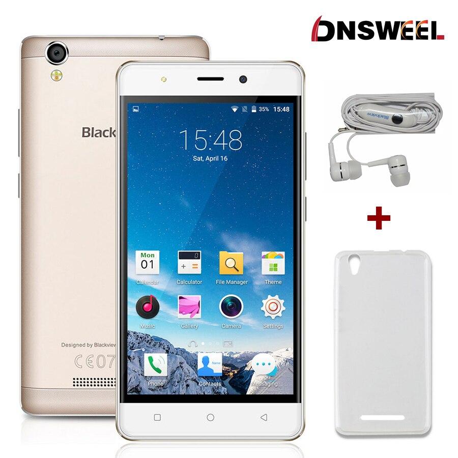 Galleria fotografica Livraison Cadeau Blackview A8 <font><b>smartphone</b></font> MTK6580 5.0 pouce IPS HD Quad Core Android 5.1 Mobile Téléphone 1 GB RAM 8 GB ROM 8MP 3G téléphone portable