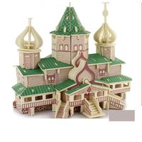 3D Wood Puzzles For Adults Kids European And American Style Tourist Attractions Gift Baby Kid Toys