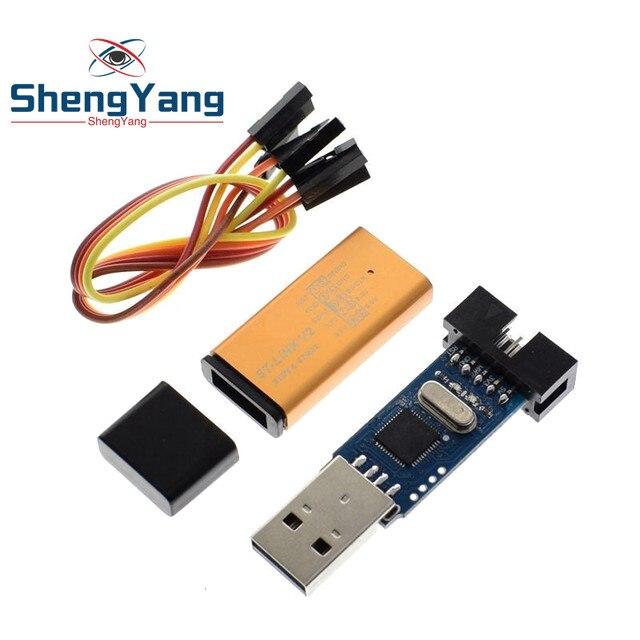 1Set ST LINK Stlink ST-Link V2 Mini STM8 STM32 Simulator Download Programmer Programming With Cover DuPont Cable ST Link V2