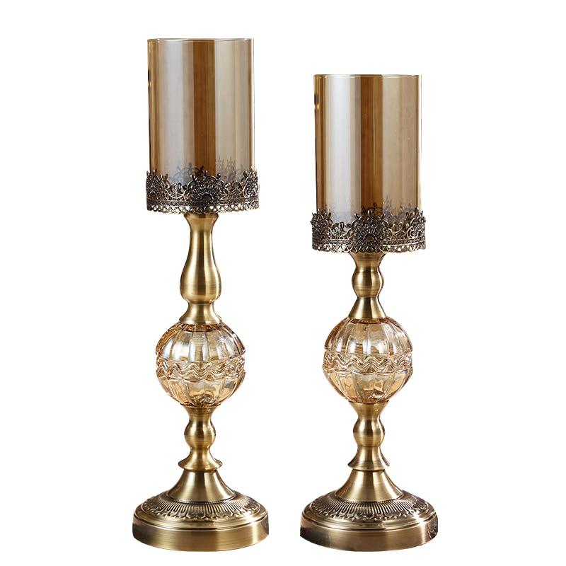 Hurricane candleholder Bronze Luxury dining table decoration - Huisdecoratie