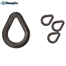 Rompin 100pcs/lot Carp Fishing Pear Shape Rig Rings Loops Swivels Carping Terminal Tackle Matt Black Color S M L Size