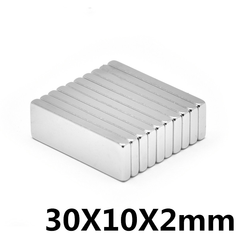 Lots 30mm x 10mm x 2mm block rare earth neodymium permanent strong magnet N48