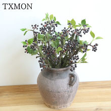 Moss fruit bubble berry artificial flower Christmas room hotel decoration wedding holding flower wall plant wall fake flower(China)
