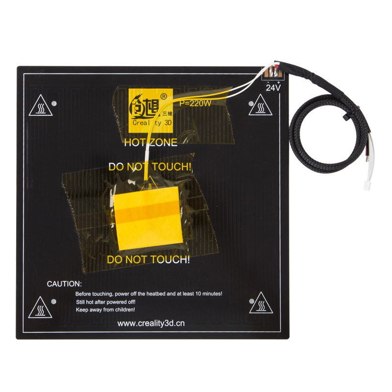 купить Creality 3D 24V CR-20 Heated Bed Frame 3D Printer Hotbed For CR-20 3D Printer Parts Black Aluminum Heatbed Build Plate по цене 2154.46 рублей