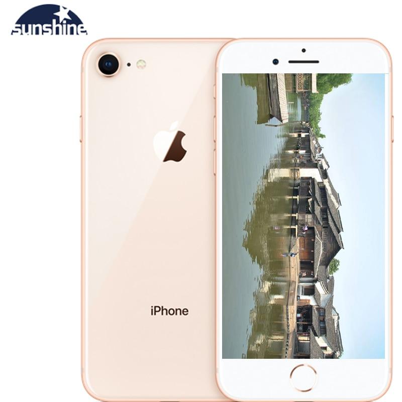 Apple IPhone 8 Unlocked Fingerprint Cellphone Original 2G RAM 64GB/256GB ROM 4G LTE 4.7''12.0 MP Camera Hexa-core IOS