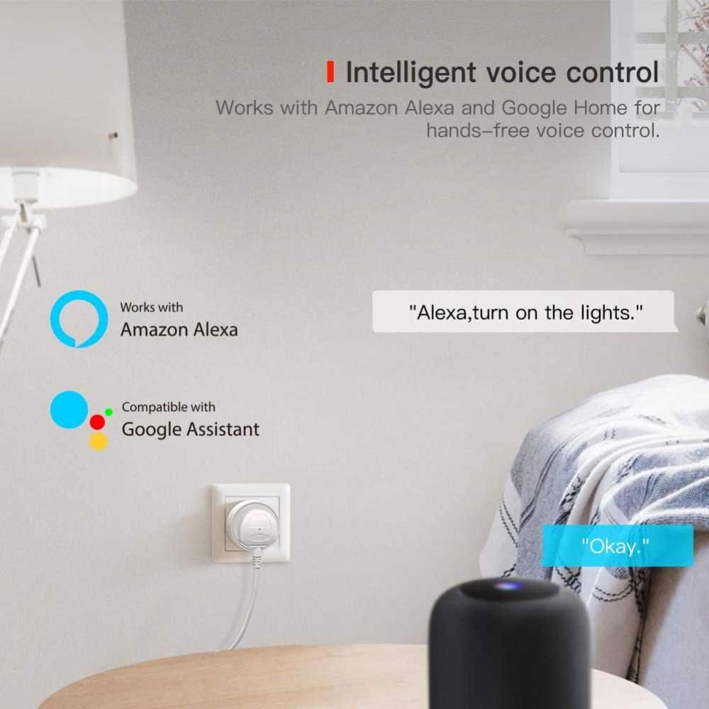 Inteligentne życie inteligentne gniazdo WiFi UK wtyczka 10A energii monitorowania zegar przełącznik wylot sterowanie głosem współpracuje z Alexa Google IFTTT