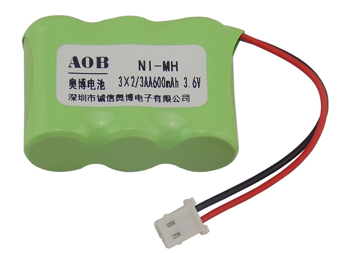 free shipping 2 3aa 600mah 3 6v nimh rechargeable battery. Black Bedroom Furniture Sets. Home Design Ideas