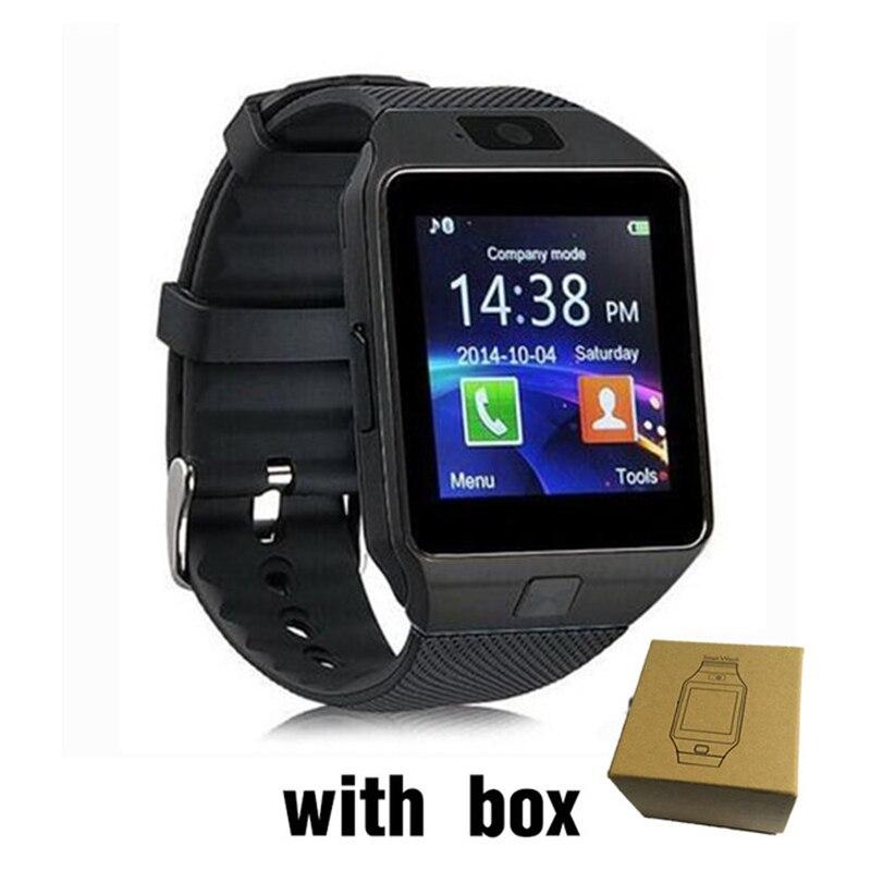 imágenes para Hiwego DZ09 Reloj Inteligente Empuje Mensaje Bluetooth Android Hombres Smartwatch Teléfono Reloj de La Cámara Grabadora de Voz Podómetro Reloj Inteligente