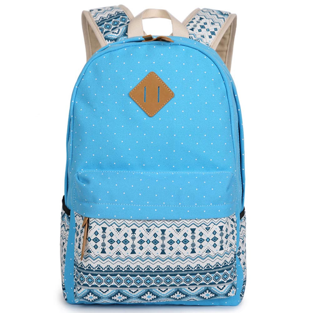 Hot Retro Canvas Backpacks Women Fashion School Bag For Girls Polka Dot Printing Backpack Shoulder Bags