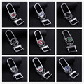 21 Brands Metal 360 Degree Rotatable Keychain For Car With Logo Keyring Key Chain Ring CNYOWO