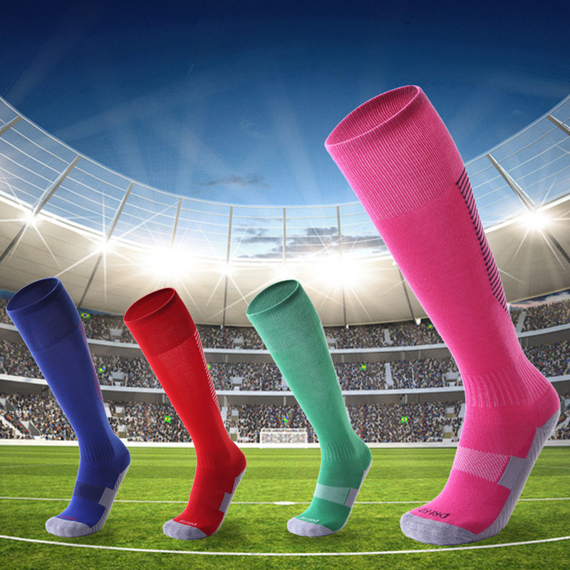 In Hearty Anti Slip Mens Male Football Socks Soccer Sports Running Long Stockings Leg Compression Stretch Knee High Thick Cotton Fragrant Flavor