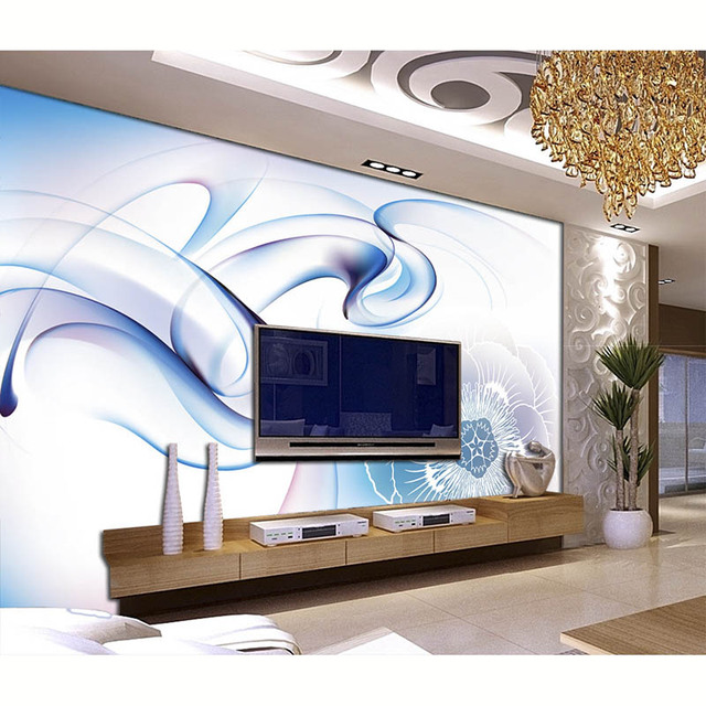 Fantasie Rauch Blume Tapete Kunst Dekoration Fur Wohnzimmer Tv