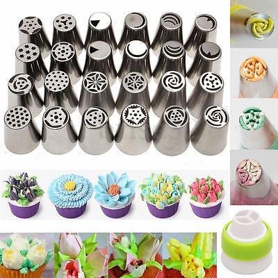 15PCS Russian Icing Piping Nozzles Tips Cake Decorating Sugarcraft Pastry Cake Tools