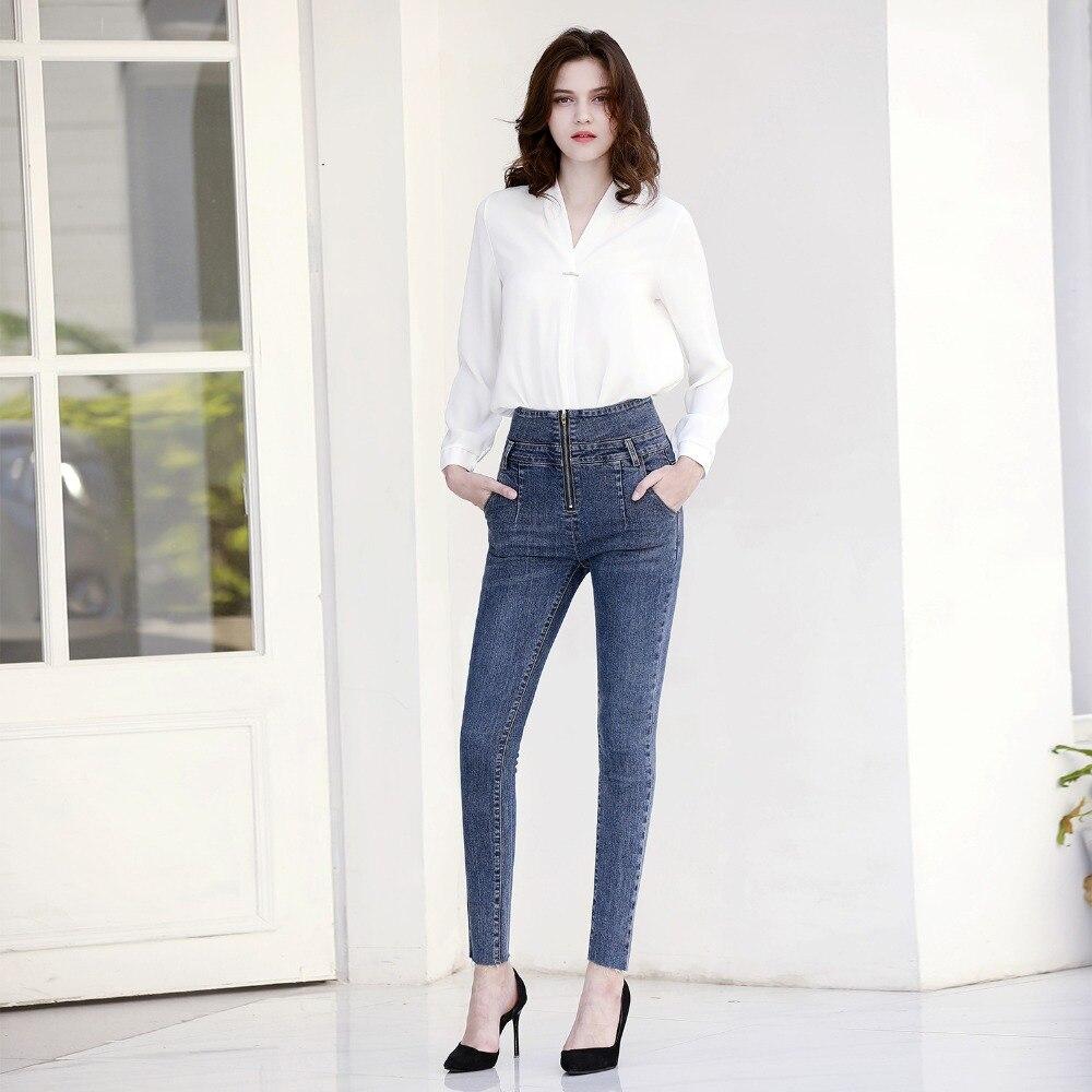 Femme 1 Jeans Noir Taille Push Jean Minceur Dtynz 3 Pantalon Zipper Grande Moulant Up Haute Maigre 2 Skinny ZwB5qnSA