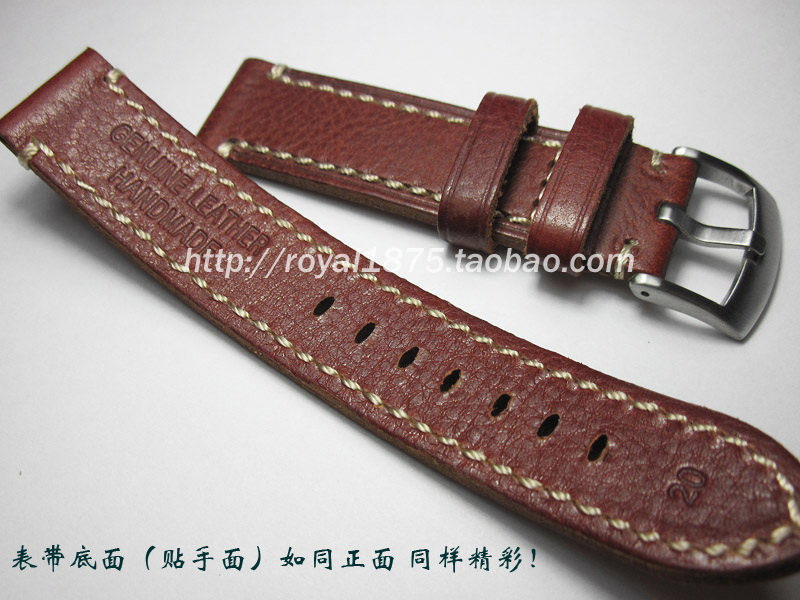 Italy Calf Genuine Leather Watchband for Diesel DZ Fossil DW CK Timex Armani Watch Band Wrist Strap 20mm Men Vintage Red strap